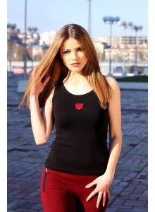 Black T-shirt with red Eagle (women)