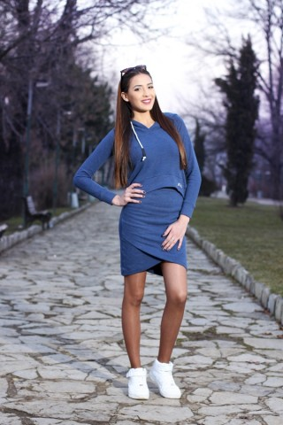 Sportive sweatshirt and skirt - Blue