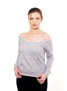 Blouse with open colar - Light Grey