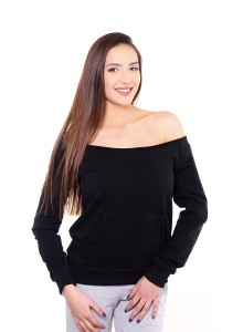 Blouse with open colar - Black