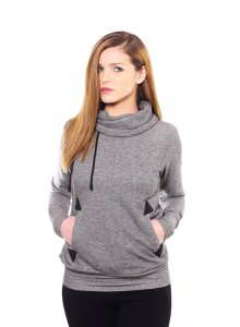 Sweatshirt - Grey with black dots