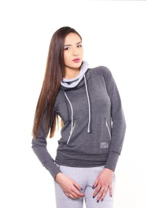 Sweatshirt pockets with zipper - Dark Grey