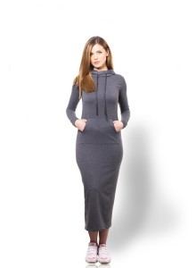 Sportive Long Dress - Dark Grey