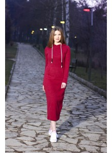 Sportive Long Dress - Red
